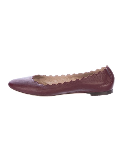 Chloé Leather Round-Toe Ballet Flats