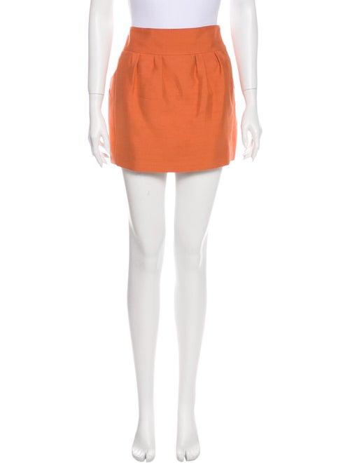 Chloé Silk Mini Skirt Red