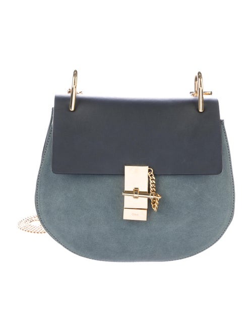 Chloé Suede-Trimmed Drew Bag green