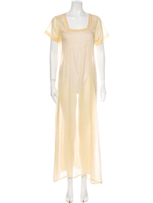 Chloé Embroidered Accent Nightgown Yellow