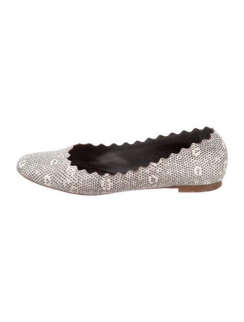 Chloé Embossed Leather Ballet Flats