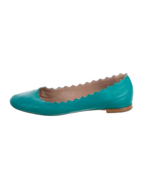 Chloé Leather Ballet Flats Blue