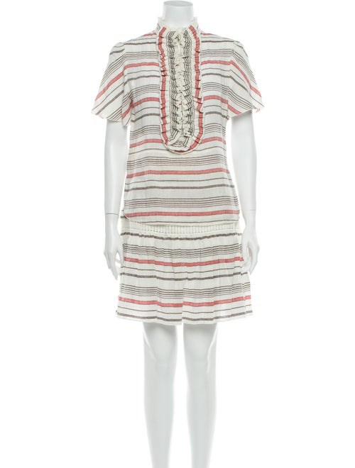 Chloé Striped Pleated Accents Skirt Set