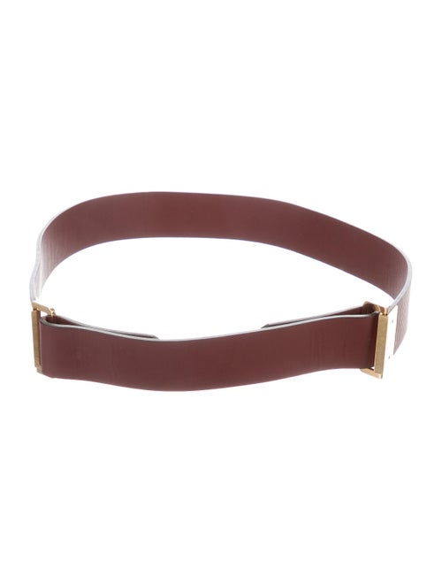 Chloé Leather Buckle Belt gold