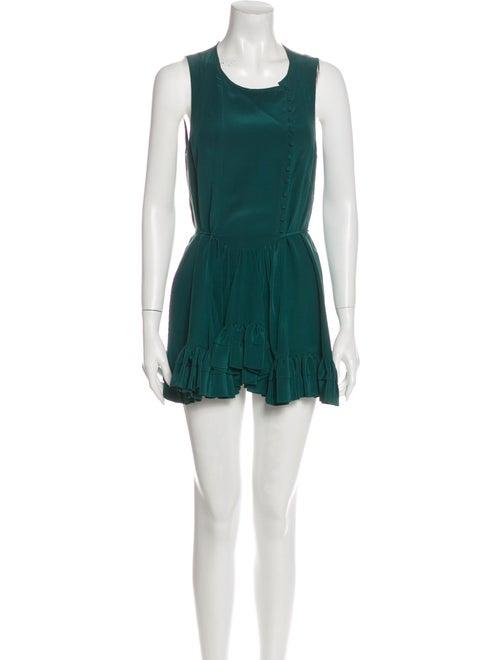 Chloé Silk Mini Dress Green
