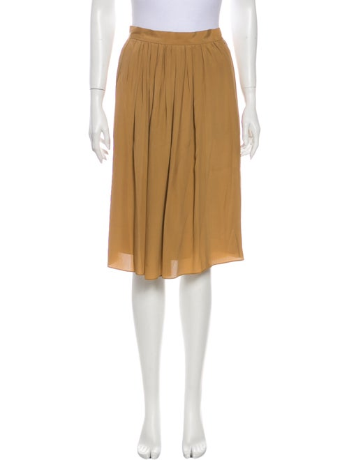 Chloé Pleated Accents Knee-Length Skirt