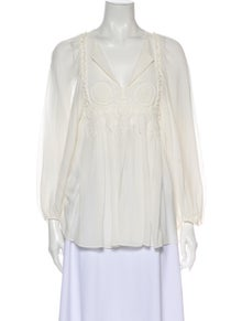 Chloé Silk V-Neck Blouse