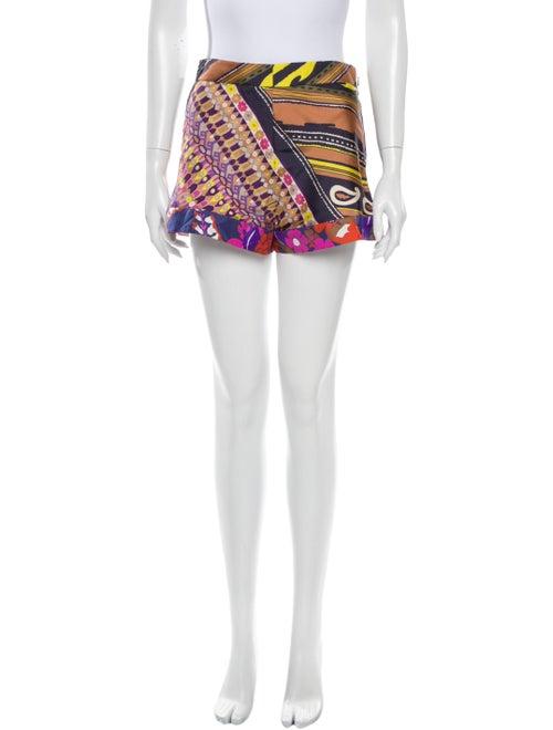 Chloé Silk Mini Shorts Brown