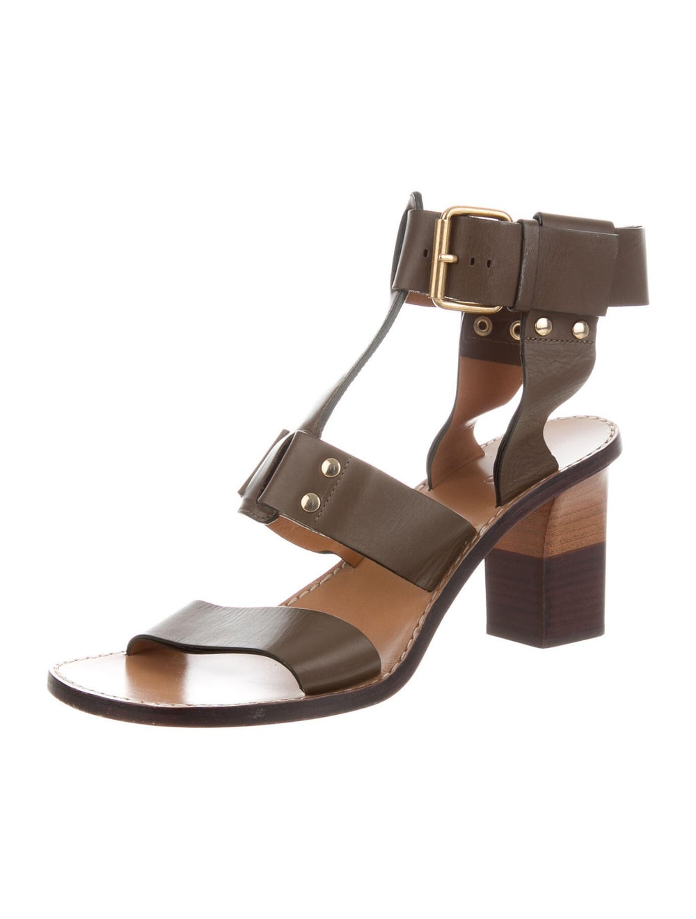Chloé Leather Gladiator Sandals - image 2