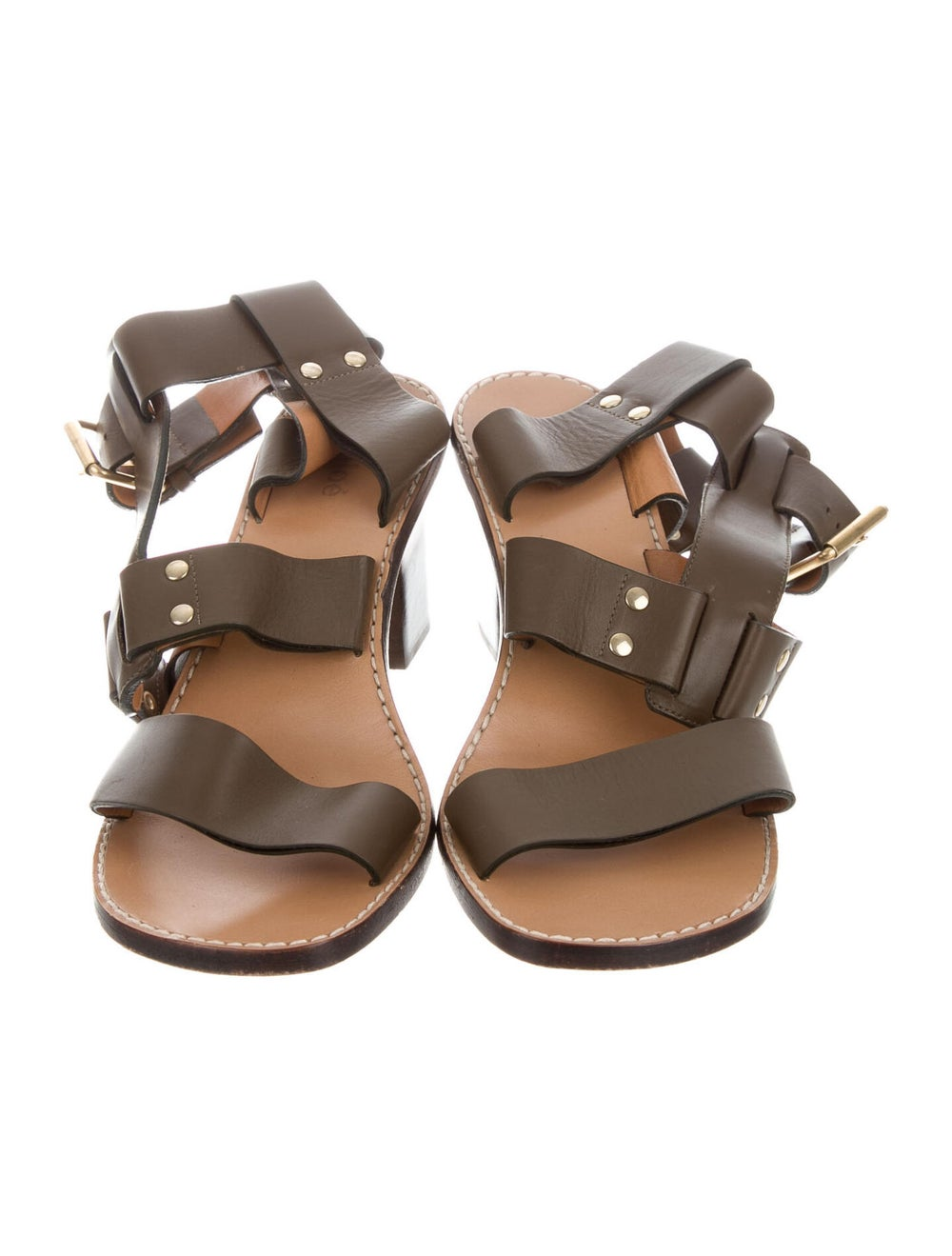 Chloé Leather Gladiator Sandals - image 3