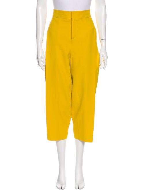 Chloé Wide Leg Pants Yellow