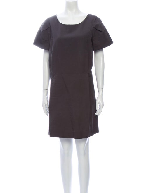 Chloé Silk Mini Dress Grey
