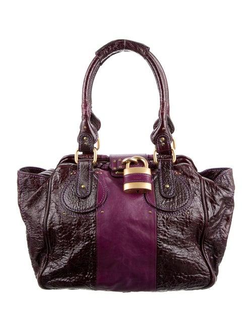 Chloé Patent Leather Paddington Bag Purple