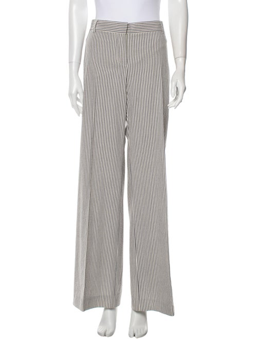 Chloé Striped Wide Leg Pants Blue