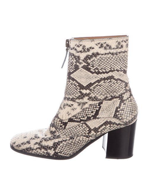 Chloé Snakeskin Animal Print Boots