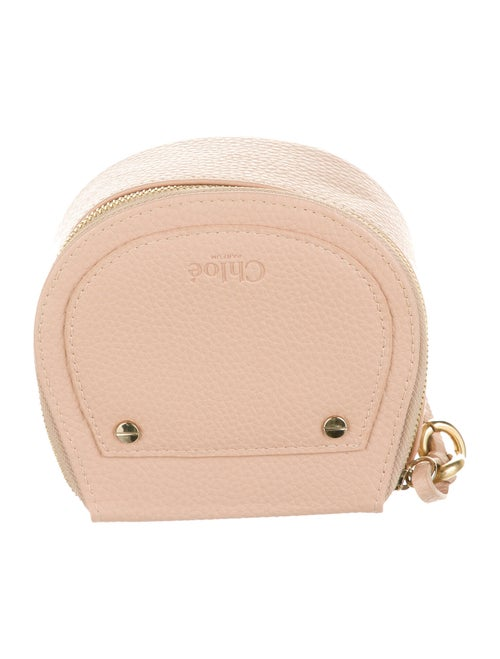 Chloé Leather Cosmetic Bag Pink
