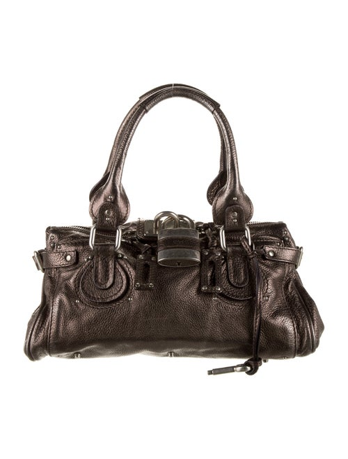Chloé Leather Paddington Shoulder Bag Grey