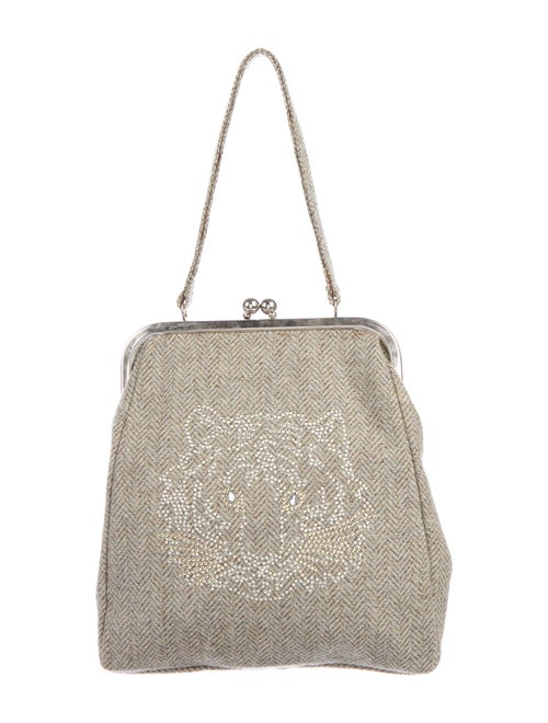 Chloé Studded Frame Bag Grey