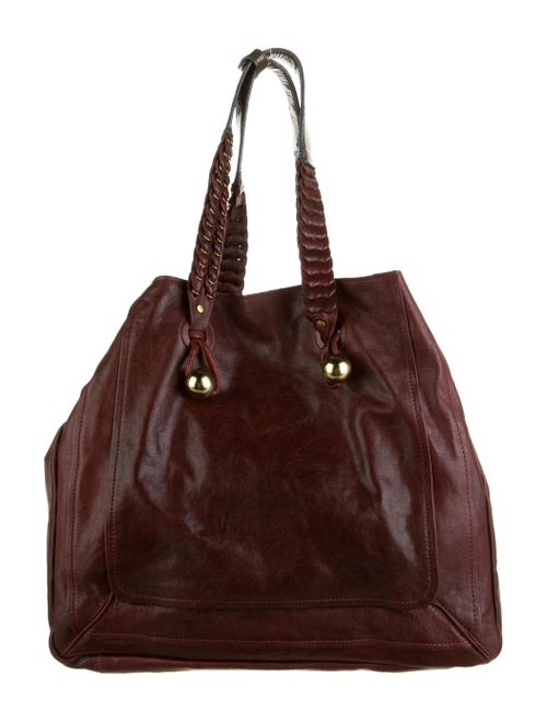 Chloé Large Leather Tote Bag Red