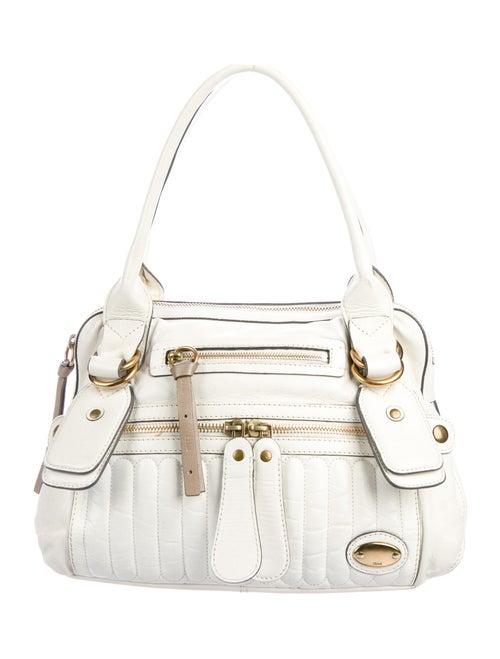 Chloé Leather Bay Shoulder Bag Gold