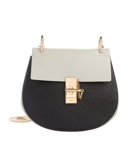 Chloé Leather Drew Crossbody Bag Black
