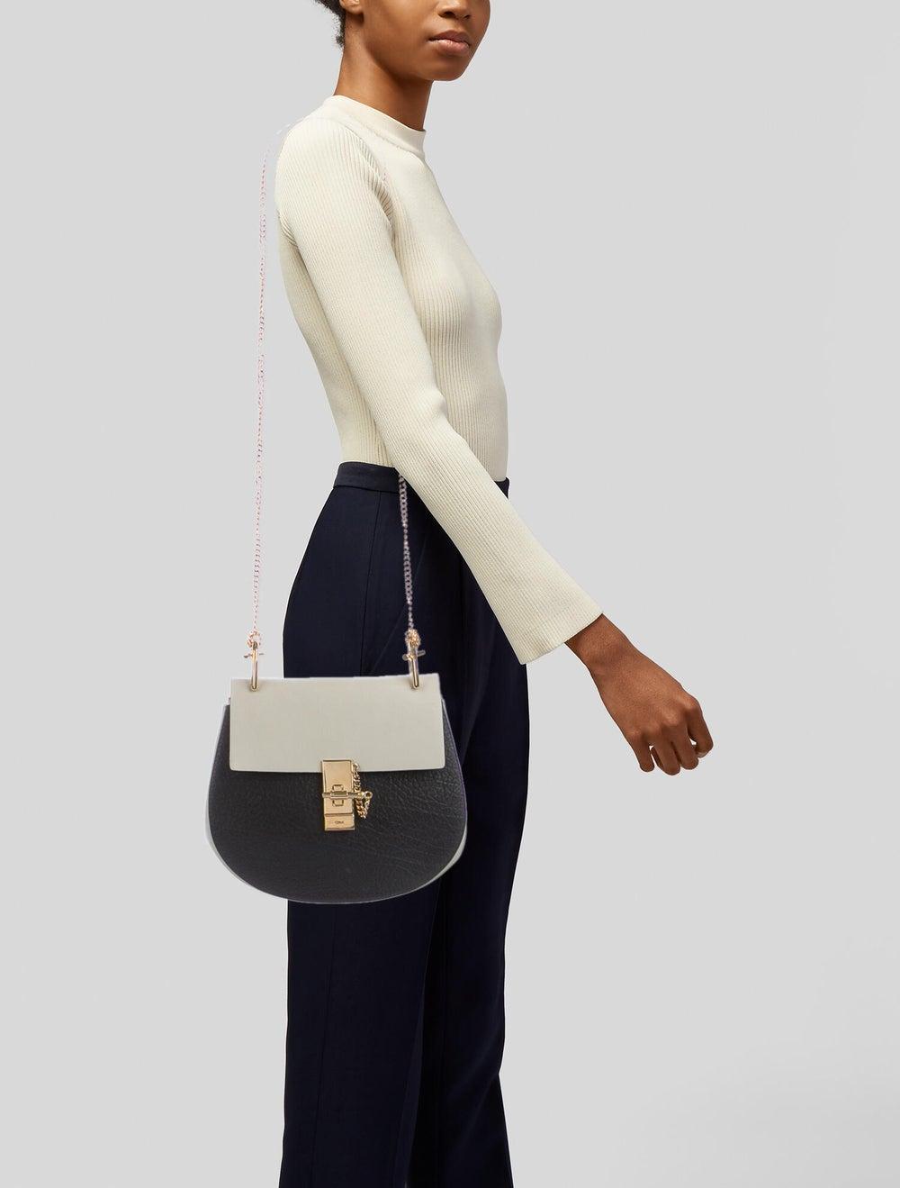 Chloé Leather Drew Crossbody Bag Black - image 2
