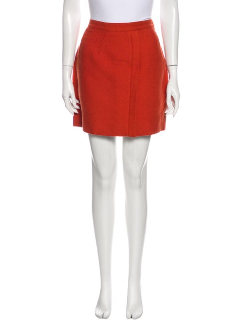 Chloé Mini Skirt Orange