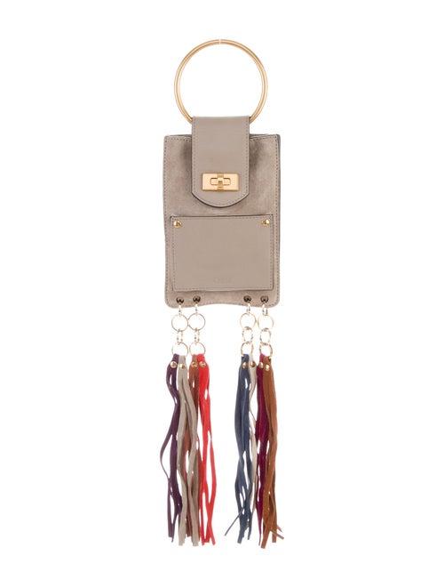 Chloé Suede Mini Jane Bracelet Bag Gold
