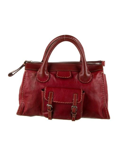 Chloé Leather Edith Bag Red