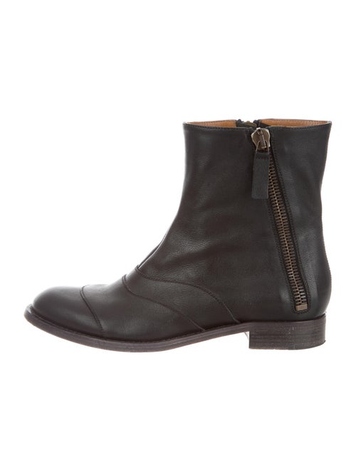 Chloé Leather Boots Brown