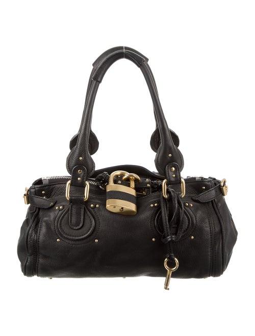 Chloé Leather Paddington Bag Black