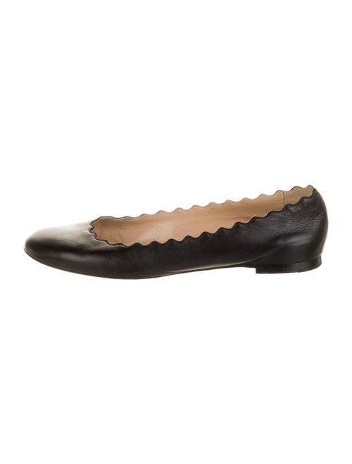 Chloé Leather Ballet Flats Black