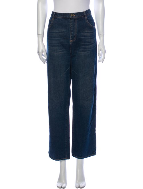 Chloé High-Rise Wide Leg Jeans Blue