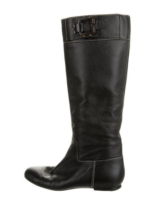 Chloé Leather Riding Boots Black