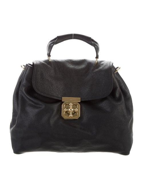 Chloé Leather Elsie Handle Bag Black