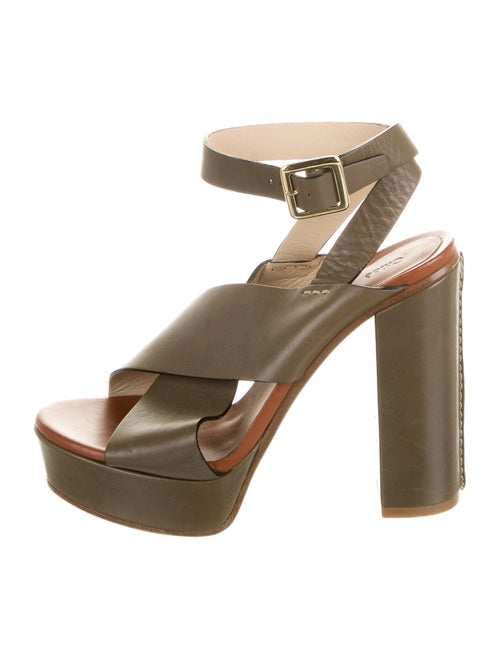 Chloé Leather Sandals Green