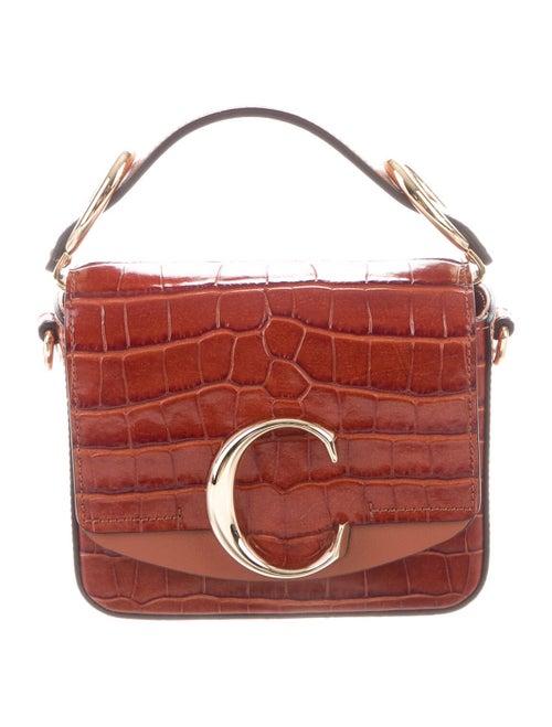 Chloé Mini C Crossbody Bag Brown