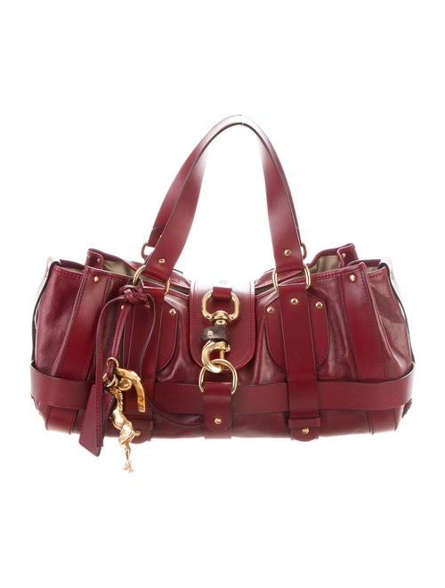 Chloé Kerala Equipped Leather Bag Red
