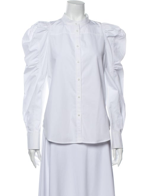 Chloé Long Sleeve Button-Up Top White