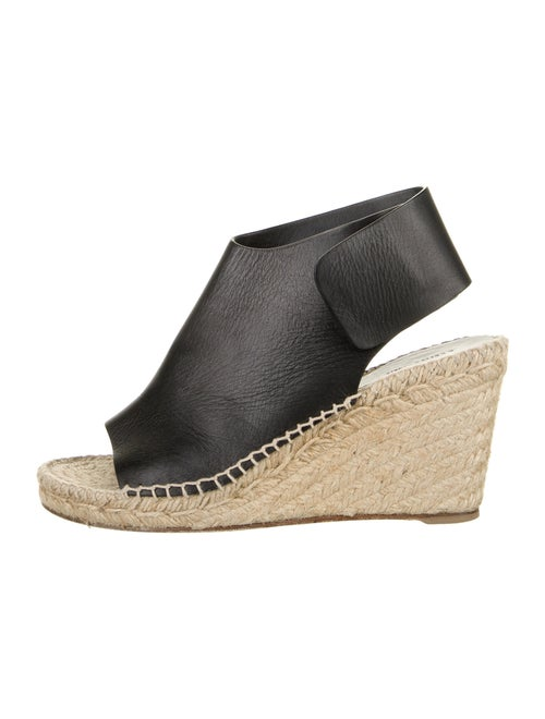 Chloé Leather Espadrilles Black