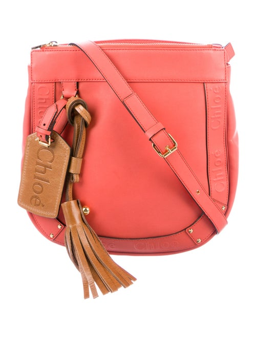 Chloé Leather Crossbody Bag Pink
