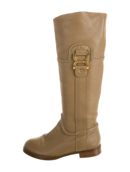 Chloé Leather Riding Boots Brown