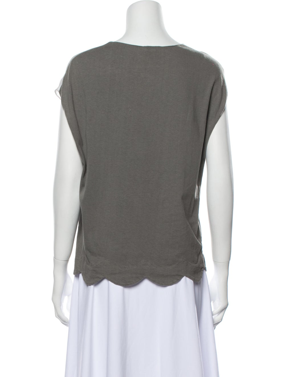 Chloé Scoop Neck Short Sleeve T-Shirt Grey - image 3