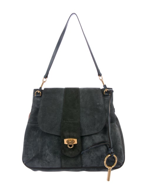 Chloé Suede Lexa Bag Blue