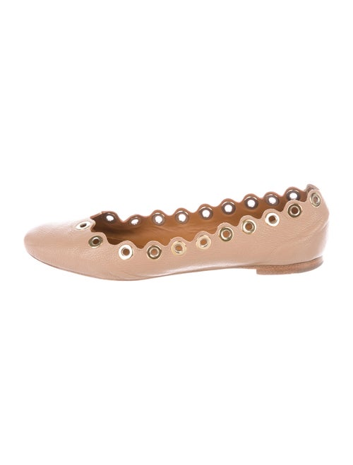 Chloé Laruen Leather Ballet Flats Brown