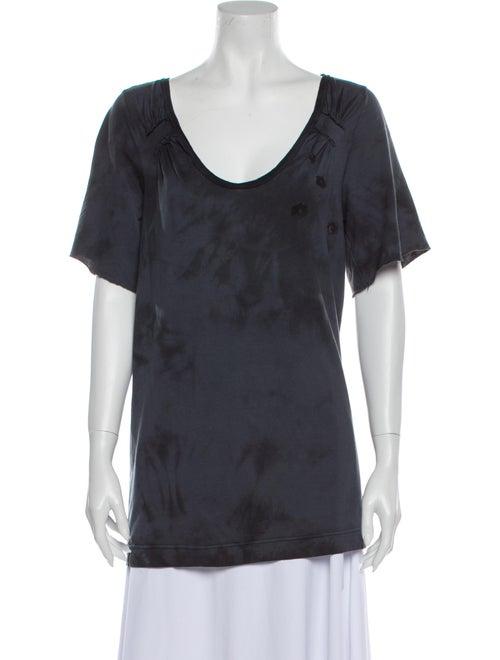 Chloé Scoop Neck Short Sleeve T-Shirt Grey