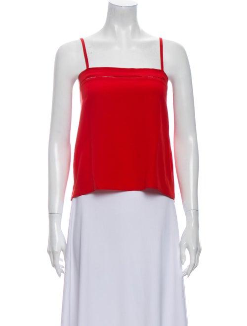 Chloé Vintage Silk Crop Top Red