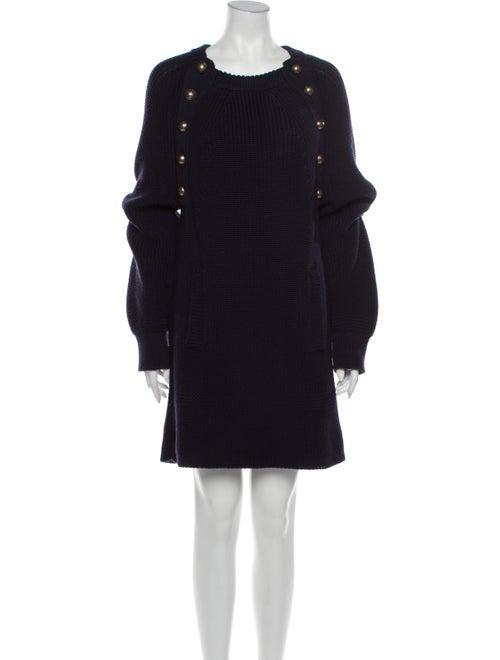 Chloé Virgin Wool Mini Dress Wool