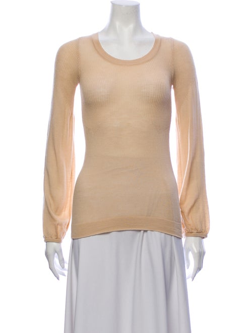 Chloé Merino Wool Scoop Neck Sweater Wool