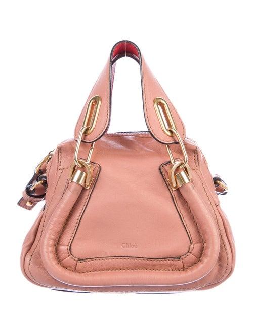 Chloé Mini Leather Paraty Bag Pink